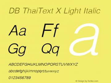 DB ThaiText X
