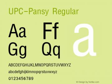 UPC-Pansy