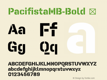 PacifistaMB-Bold