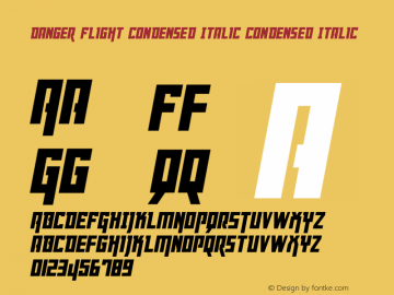 Danger Flight Condensed Italic
