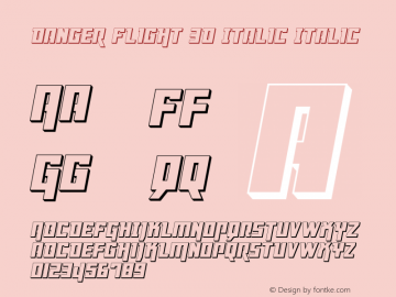 Danger Flight 3D Italic