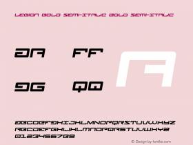Legion Bold Semi-Italic