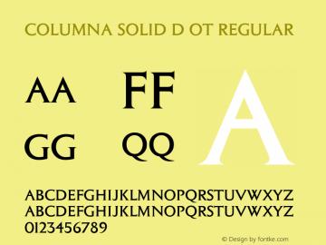 Columna Solid D OT