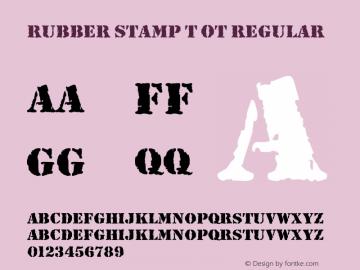 Rubber Stamp T OT