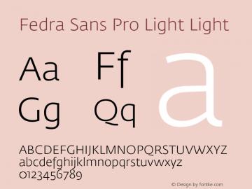 Fedra Sans Pro Light
