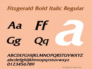 Fitzgerald Bold Italic
