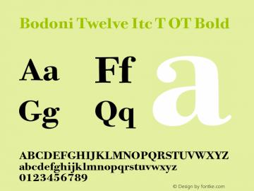 Bodoni Twelve Itc T OT