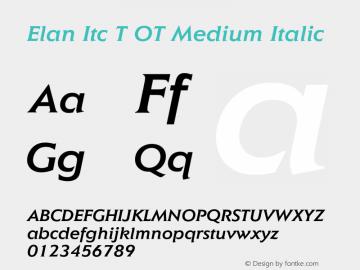 Elan Itc T OT Medium