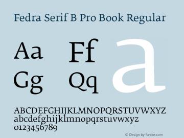 Fedra Serif B Pro Book