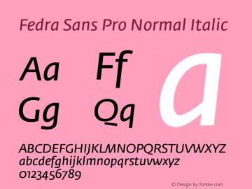 Fedra Sans Pro Normal