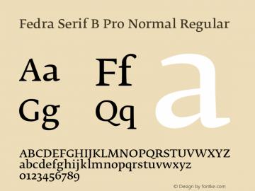 Fedra Serif B Pro Normal