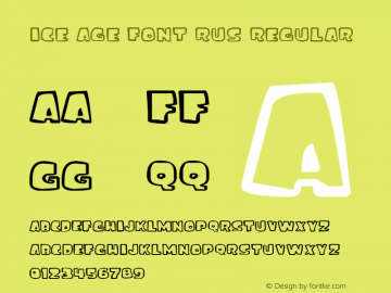 ice age font rus