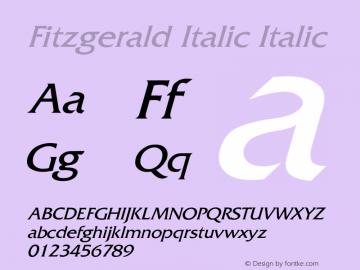 Fitzgerald Italic