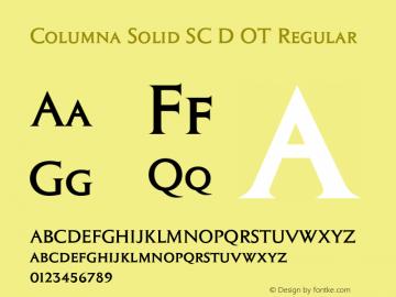 Columna Solid SC D OT