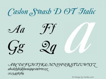 Caslon Swash D OT