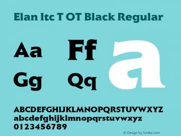 Elan Itc T OT Black