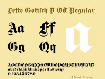 Fette Gotisch D OT