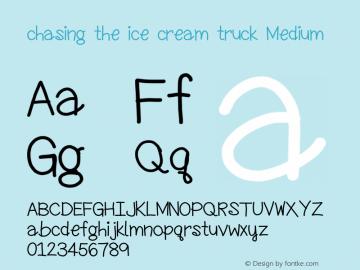chasing the ice cream truck