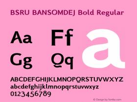 BSRU BANSOMDEJ Bold