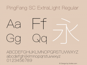 PingFang SC ExtraLight