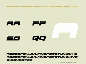Eridanus Condensed Semi-Italic