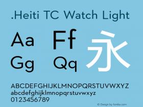.Heiti TC Watch