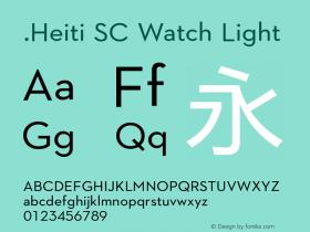 .Heiti SC Watch