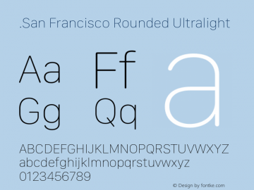 .San Francisco Rounded
