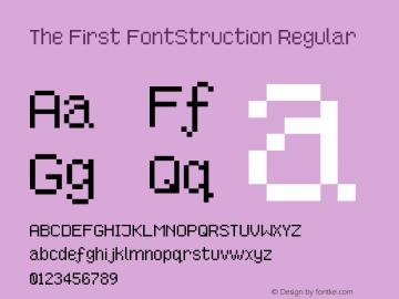 The First FontStruction