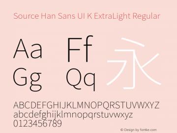 Source Han Sans UI K ExtraLight