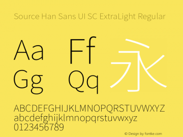 Source Han Sans UI SC ExtraLight