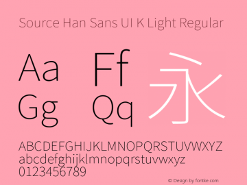 Source Han Sans UI K Light