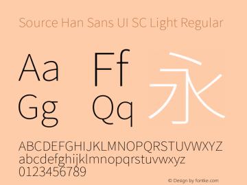 Source Han Sans UI SC Light