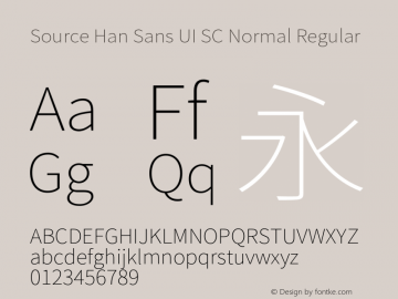 Source Han Sans UI SC Normal