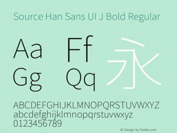Source Han Sans UI J Bold