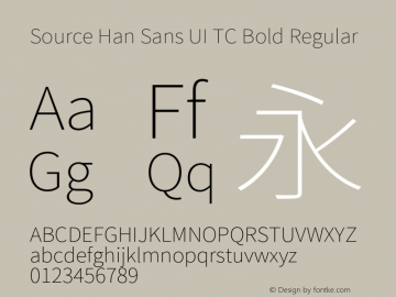 Source Han Sans UI TC Bold