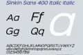 Sinkin Sans 400 Italic