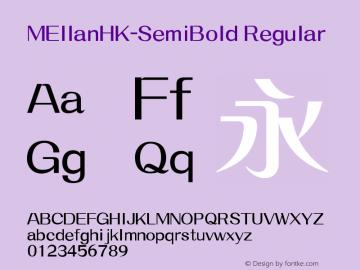 MEllanHK-SemiBold