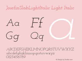 JosefinSlabLightItalic