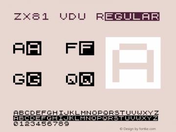 ZX81 VDU