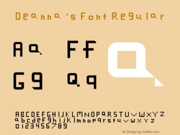 Deanna's Font