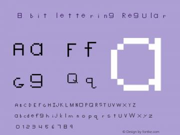 8 bit lettering