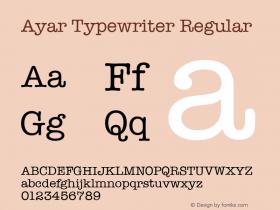 Ayar Typewriter