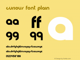 curious font