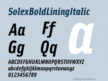 SolexBoldLiningItalic