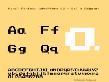 Final Fontasy Adventure GB - Solid