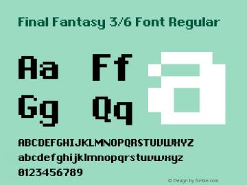 Final Fantasy 3/6 Font