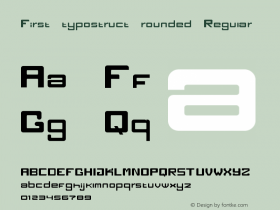 First typostruct rounded