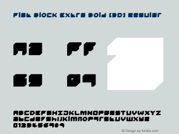Flat Block Extra Bold (3D)