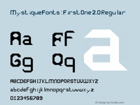 MystiqueFonts: First One